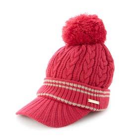 レディース ゴルフ ニット帽子 21W9CW Caps15 Knit_ 3546206923 (ピンク)