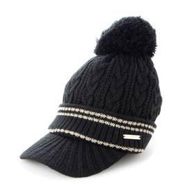 レディース ゴルフ ニット帽子 21W9CW Caps15 Knit_ 3546206909 (ブラック)