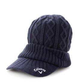 レディース ゴルフ ニット帽子 21W9CW Caps17 Cable Knit Cap 2_ 3546198709 (ネイビー)