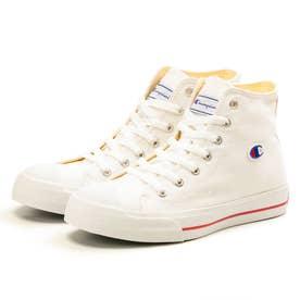スニーカー レディース ハイカット カジュアル LC006 センターコート HI 靴 ワッペン ロゴ刺繍 キャンバス (ホワイト)