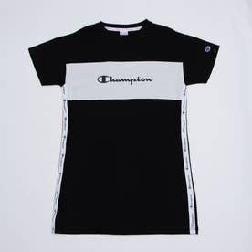 ジュニア 半袖Tシャツ チャンピオンCVCワッフル半袖Tシャツ_ CK-T343 (ブラック)