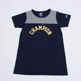ジュニア 半袖Tシャツ チャンピオンアーチプリントワンピース_ CK-T355 (ネイビー)