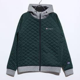 メンズ 中綿ジャケット HOODED JACKET C3-SS613 (グリーン)