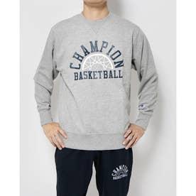 メンズ バスケットボール パーカー CREW SWEAT C3-SB010 (グレー)