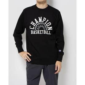メンズ バスケットボール パーカー CREW SWEAT C3-SB010 (ブラック)