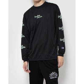 メンズ バスケットボール 長袖Tシャツ PRACTICE LONG TEE C3-SB410 (ブラック)