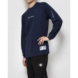 メンズ レディース バスケットボール 長袖Tシャツ DRYSAVER LONG TEE C3-SB451 (ネイビー)