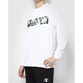 メンズ バスケットボール 長袖Tシャツ PRACTICE LONG TEE C3-SB412 (ホワイト)