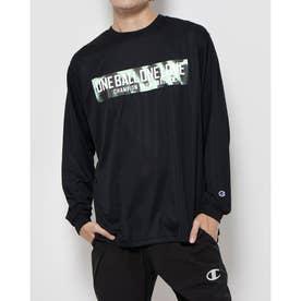 メンズ レディース バスケットボール 長袖Tシャツ PRACTICE LONG TEE C3-SB412 (ブラック)