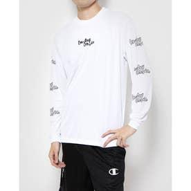 メンズ バスケットボール 長袖Tシャツ PRACTICE LONG TEE C3-SB410 (ホワイト)