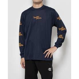 メンズ レディース バスケットボール 長袖Tシャツ PRACTICE LONG TEE C3-SB410 (ネイビー)