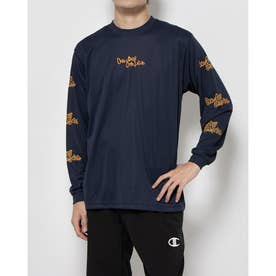 メンズ バスケットボール 長袖Tシャツ PRACTICE LONG TEE C3-SB410 (ネイビー)