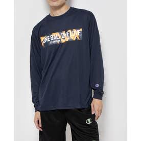 メンズ バスケットボール 長袖Tシャツ PRACTICE LONG TEE C3-SB412 (ネイビー)