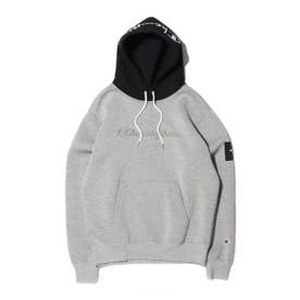 x ATMOS LAB WRAPAIR P/O HOODED SWEATSHIRT (GRAY)