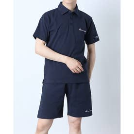 メンズ 半袖ポロシャツ SHORT SLEEVE POLO SHIRT C3-P306 (ネイビー)