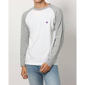 メンズ 長袖Tシャツ RAGLAN LONG SLEEVE T-SHIRT_ C3-P402 (グレー)