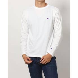 メンズ 長袖Tシャツ LONG SLEEVE T-SHIRT_ C3-P401 (ホワイト)