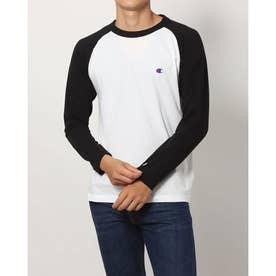 メンズ 長袖Tシャツ RAGLAN LONG SLEEVE T-SHIRT_ C3-P402 (ブラック)