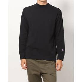 メンズ 長袖Tシャツ MOCK NECK LONG SLEEVE TEE_ C3-S402 (ブラック)