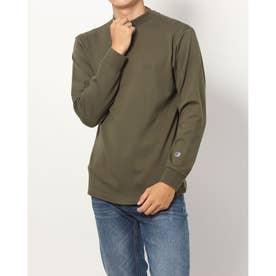 メンズ 長袖Tシャツ MOCK NECK LONG SLEEVE TEE_ C3-S402 (グリーン)