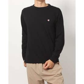 メンズ 長袖Tシャツ LONG SLEEVE T-SHIRT_ C3-P401 (ブラック)