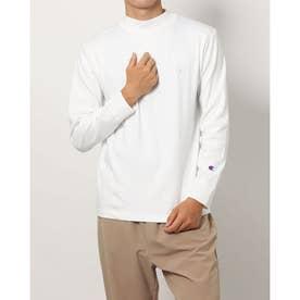 メンズ 長袖Tシャツ MOCK NECK LONG SLEEVE TEE_ C3-S402 (ホワイト)