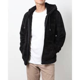 メンズ フリースジャケット ZIP HOODED JACKET_ C3-L615 (ブラック)