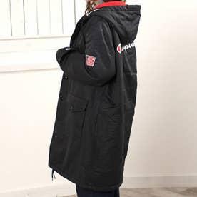フード付きハーフコート(ブラック)