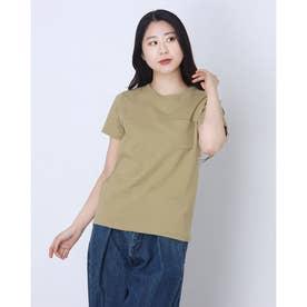 レディース 半袖Tシャツ POCKET T-SHIRT CW-M321 (ブラウン)