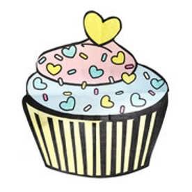 レディース マリン ビーチタオル カップケーキ型タオル 228189 【返品不可商品】