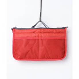 タブレットも収納できるバッグインバッグ (レッド)