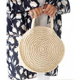 サークルショルダーバッグ 丸い形がトレンドのペーパーバッグ カゴバッグ 2way ツーウェイ 春夏 トート (【ライトベージュ】2)