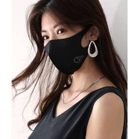 【通気性◎、防細菌、抗菌、UVカット99%】3D立体ファッションマスク 【返品不可商品】 (ブラック(プリント有))