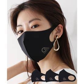 【通気性◎、防細菌、抗菌、UVカット99%】3D立体ファッションマスク 3枚セット 【返品不可商品】 (ブラック(プリント有)