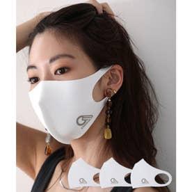 【通気性◎、防細菌、抗菌、UVカット99%】3D立体ファッションマスク 3枚セット 【返品不可商品】 (ホワイト(プリント有)