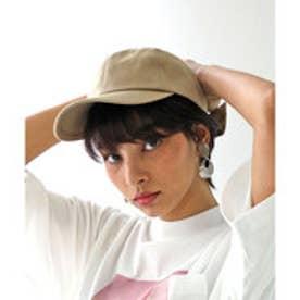 バックリボンキャップ レディース 帽子 リボン ローキャップ 春夏 カジュアルデニム 紫外線対策 日よけ UV (【ベージュ】3)