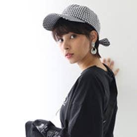バックリボンキャップ レディース 帽子 リボン ローキャップ 春夏 カジュアルデニム 紫外線対策 日よけ UV (【ギンガムチェック】8)