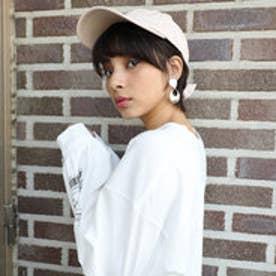 バックリボンキャップ レディース 帽子 リボン ローキャップ 春夏 カジュアルデニム 紫外線対策 日よけ UV (【アイボリー】1)