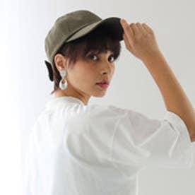 バックリボンキャップ レディース 帽子 リボン ローキャップ 春夏 カジュアルデニム 紫外線対策 日よけ UV (【カーキ】4)