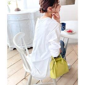 バックヘンリーオーバーサイズtビッグtシャツビッグシルエットゆるt長袖ロンtラウンドヘムパフスリーブカットソープルオーバーレディーストップス大きいサイズ