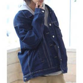 ロング丈Gジャン 定番でもあるGジャンにやや長めの丈感が登場 着こんだような風合い 3カラー ブルー インディゴ ブラック カーリーコーデ 腰回りスッキリ