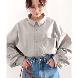 ビッグシルエットユニセックスルーズシャツ (グレー)