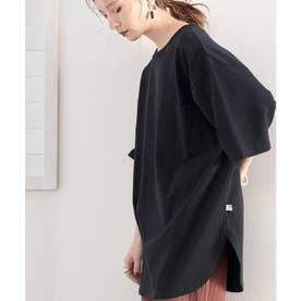 【sustaina+】【family+】綿100%USAコットン オーバーサイズTシャツ (ブラック)