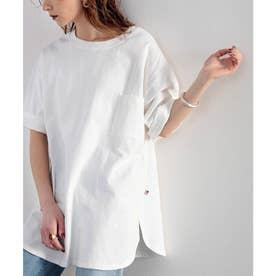 【sustaina+】【family+】綿100%USAコットン オーバーサイズTシャツ (ホワイト)