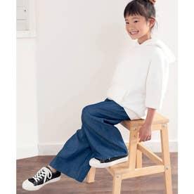 【sustaina+】【親子コーデ】キッズ ゆるっとフレアテンセルパンツ。 (ブルー)