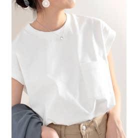 《JaVaジャバ コラボ》綿100%USAコットン。大人カジュアルポケットTシャツ (ホワイト)