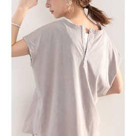 綿100% 絶妙ヴィンテージ。スノーウォッシュ加工2wayヘンリーTシャツ。 (グレージュ)