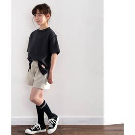 《JaVaジャバ コラボ》キッズ ふわり滑らか♪USAコットンパイル地 Tシャツ (ブラック)