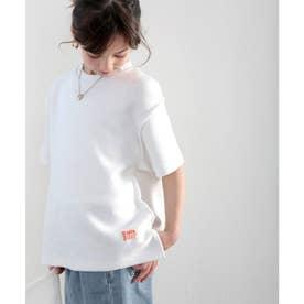 《JaVaジャバ コラボ》キッズ ふわり滑らか♪USAコットンパイル地 Tシャツ (ホワイト)