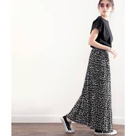 ふわり、揺れる。一目置かれる魅惑のプリーツスカート (ブラック)